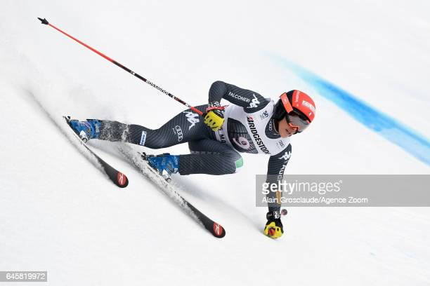 Federica Brignone of Italy competes during the Audi FIS Alpine Ski World Cup Women's Alpine Combined on February 26 2017 in Crans Montana Switzerland