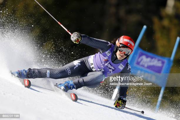 Federica Brignone of Italy competes during the Audi FIS Alpine Ski World Cup Finals Women's Giant Slalom and Men's Slalom on March 19 2017 in Aspen...