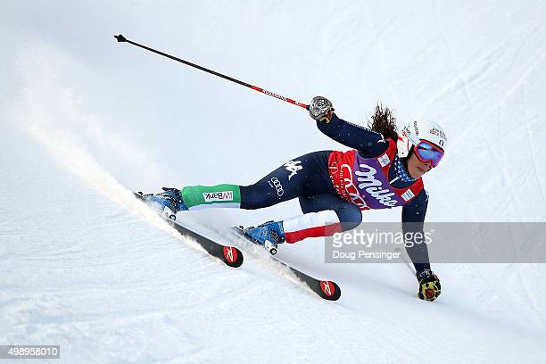 Federica Brignone of Italy competes in the first run of the giant slalom during the Audi FIS Women's Alpine Ski World Cup at the Nature Valley Aspen...