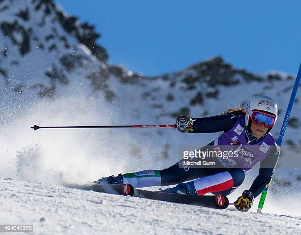 Federica Brignone of Italy during the Audi FIS Ski World Cup women's giant slalom race on the Rettenbach Glacier on 24 October 2015 in Soelden Austria
