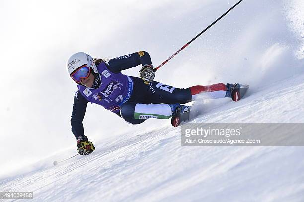 Federica Brignone of Italy in action during the Audi FIS Alpine Ski World Cup Women's Giant Slalom on October 24 2015 in Soelden Austria