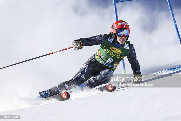 Federica Brignone of Italy in action during the Audi FIS Alpine Ski World Cup Women's Giant Slalom on October 22 2016 in Soelden Austria