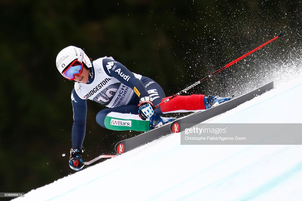 <a gi-track='captionPersonalityLinkClicked' href=/galleries/search?phrase=Federica+Brignone&family=editorial&specificpeople=6543838 ng-click='$event.stopPropagation()'>Federica Brignone</a> of Italy of Germany competes during the Audi FIS Alpine Ski World Cup Women's Super G on January 07, 2016 in Garmisch-Partenkirchen, Germany.
