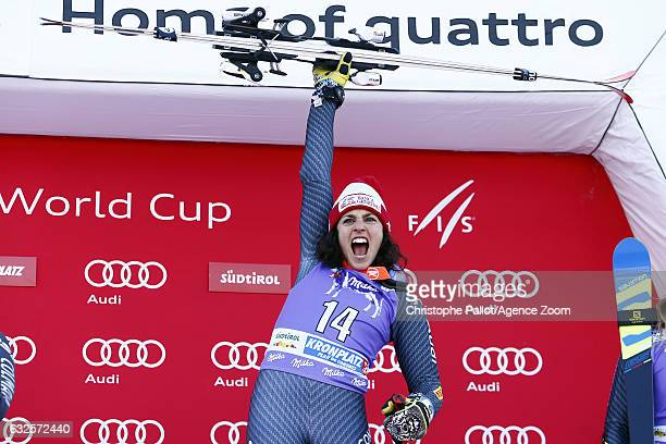 Federica Brignone of Italy takes 1st place during the Audi FIS Alpine Ski World Cup Women's Giant Slalom on January 24 2017 in Kronplatz Italy