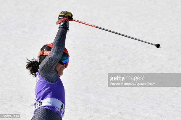Federica Brignone of Italy takes 1st place during the Audi FIS Alpine Ski World Cup Finals Women's Giant Slalom and Men's Slalom on March 19 2017 in...