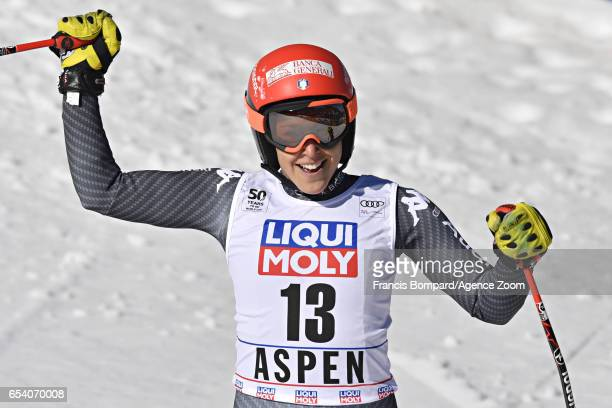 Federica Brignone of Italy takes 3rd place during the Audi FIS Alpine Ski World Cup Finals Women's and Men's SuperG on March 16 2017 in Aspen Colorado
