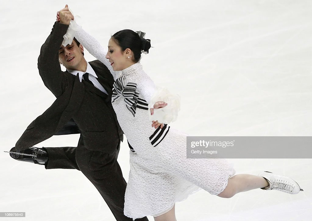 <a gi-track='captionPersonalityLinkClicked' href=/galleries/search?phrase=Federica+Faiella&family=editorial&specificpeople=722317 ng-click='$event.stopPropagation()'>Federica Faiella</a> and <a gi-track='captionPersonalityLinkClicked' href=/galleries/search?phrase=Massimo+Scali&family=editorial&specificpeople=722318 ng-click='$event.stopPropagation()'>Massimo Scali</a> of Italy competes in the Ice Dance Short Dance during of the ISU Grand Prix of Figure Skating 2010/2011 Cup of Russia at Megasport Sport Palace on November 19, 2010 in Moscow, Russia.