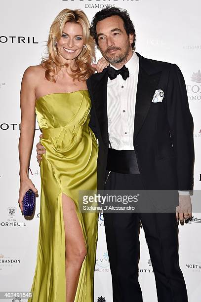 Federica Fontana and Felice Rusconi attend Alessandro Martorana's birthday party on January 29 2015 in Milan Italy