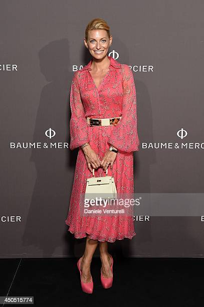 Federica Fontana attends Baume Mercier Promesse New Women Collection Launch at Teatro Vetra on June 12 2014 in Milan Italy