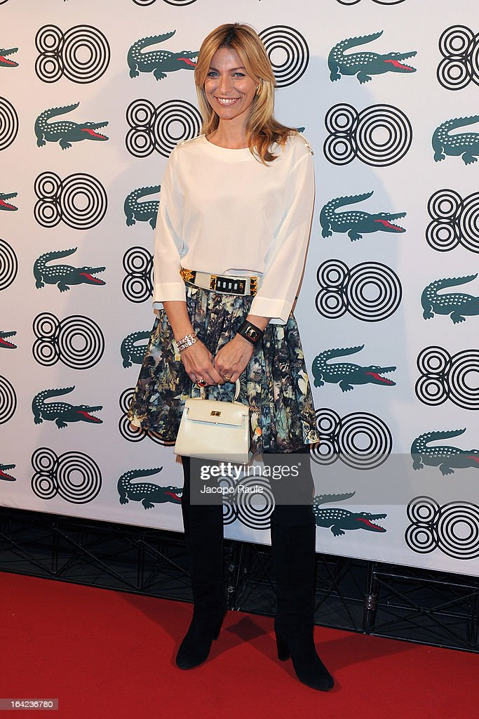Federica Fontana attends Lacoste 80th Anniversary cocktail party at La Rinascente on March 21, 2013 in Milan, Italy.