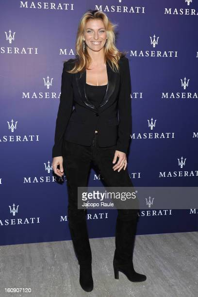 Federica Fontana attends Maserati Quattroporte Cocktail on February 7 2013 in Milan Italy