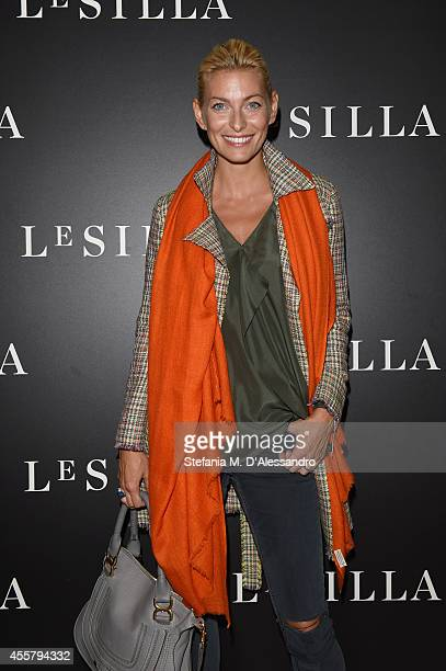 Federica Fontana attends the Le Silla Spring/Summer 2015 Collection Presentation as part of Milan Fashion Week Womenswear Spring/Summer 2015 on...