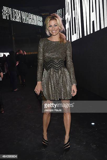 Federica Fontana attends the Philipp Plein show during the Milan Fashion Week Autumn/Winter 2015 on February 25 2015 in Milan Italy