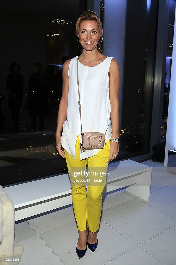 Federica Fontana attends the Sergio Rossi presentation cocktail during Milan Fashion Week Womenswear Fall/Winter 2013/14 on February 21, 2013 in Milan, Italy.
