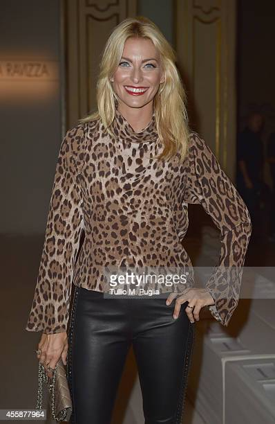 Federica Fontana attends the Simonetta Ravizza show during the Milan Fashion Week Womenswear Spring/Summer 2015 on September 21 2014 in Milan Italy