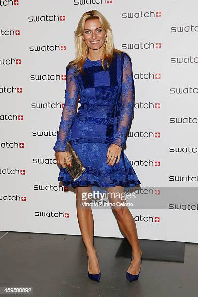 Federica Fontana attends the Swatch New Flagship Store Red Carpet on November 25 2014 in Milan Italy