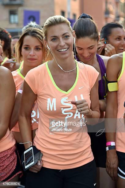 Federica Fontana attends 'We Run Milano' Nike Women's 10km on June 5 2015 in Milan Italy