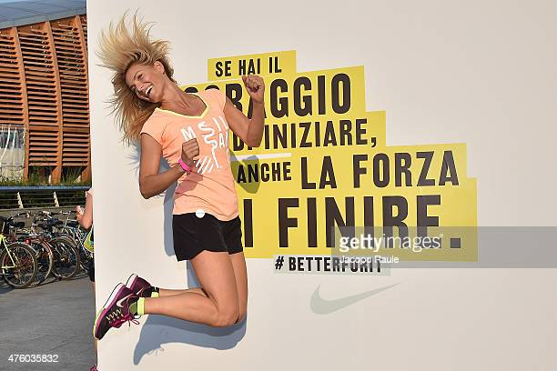 Federica Fontana attends 'We Run Milano' Nike Women's 10km on June 5 2015 in Milan Italy