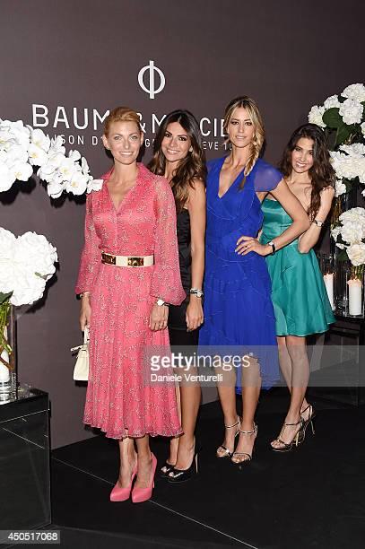 Federica Fontana Sara Ventura Elena Santarelli and Ariadna Romero attend Baume Mercier Promesse New Women Collection Launch at Teatro Vetra on June...