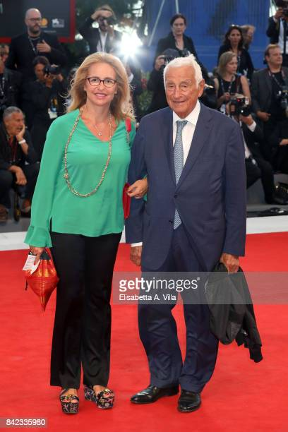 Federica Lucisano and Fulvio Lucisano walk the red carpet ahead of the 'The Leisure Seeker ' screening during the 74th Venice Film Festival at Sala...