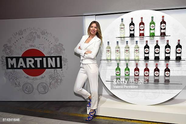 Federica Masolin attends as MARTINI kicks off the 2016 race season with Felipe Massa and Valteri Bottas FW38 car revealed alongside rare MARTINI...