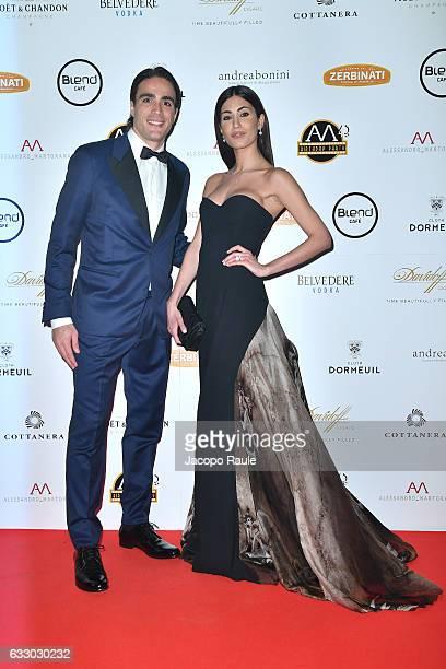 Federica Nargi and Alessandro Matri attend photocall for Alessandro Martorana party on January 29 2017 in Milan Italy