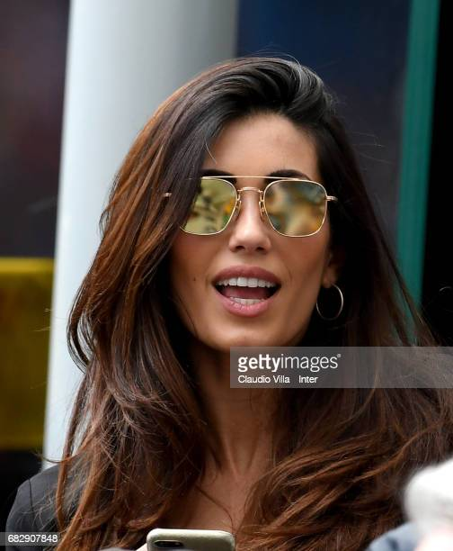 Federica Nargi attends the Serie A match between FC Internazionale and US Sassuolo at Stadio Giuseppe Meazza on May 14 2017 in Milan Italy