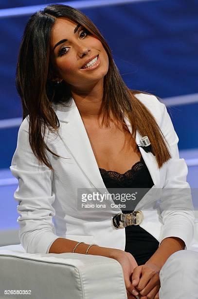 Federica Nargi attends Tiki Taka Italian TV show on September 16 2013 in Milan Italy