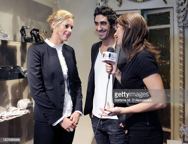 Federica Pellegrini and Filippo Magnini attend Le Silla Press Day as part of Milan Fashion Week Womenswear S/S 2013 on September 22 2012 in Milan...