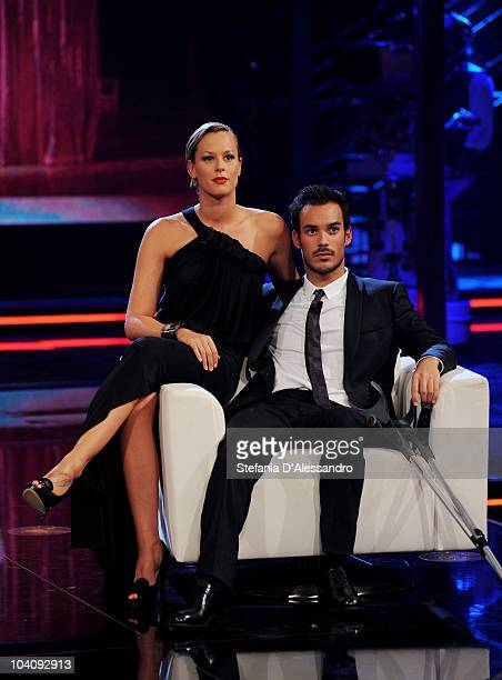 Federica Pellegrini and Luca Marin attend 'Chiambretti Night' Italian Tv Show held at Canale 5 Studios on September 14 2010 in Milan Italy