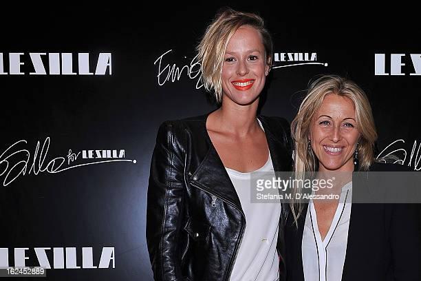 Federica Pellegrini and Monica Ciabattini attend Le Silla Presentation during Milan Fashion Week Womenswear Fall/Winter 2013/14 on February 23 2013...