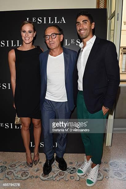 Federica Pellegrini Enio Silla and Filippo Magnini attend the Le Silla Spring/Summer 2015 Collection Presentation as part of Milan Fashion Week...