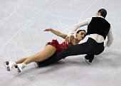 Federica Testa and Lukas Csolley compete in the Ice Dance Short Dance during the 2014 Hilton HHonors Skate America competition at the Sears Centre...