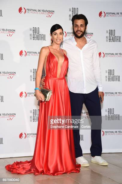 Federica Torti and Federico Balocco attend the 'The Bold and The Beautiful' 30th Years anniversary during the 57th Monte Carlo TV Festival Day 3 on...