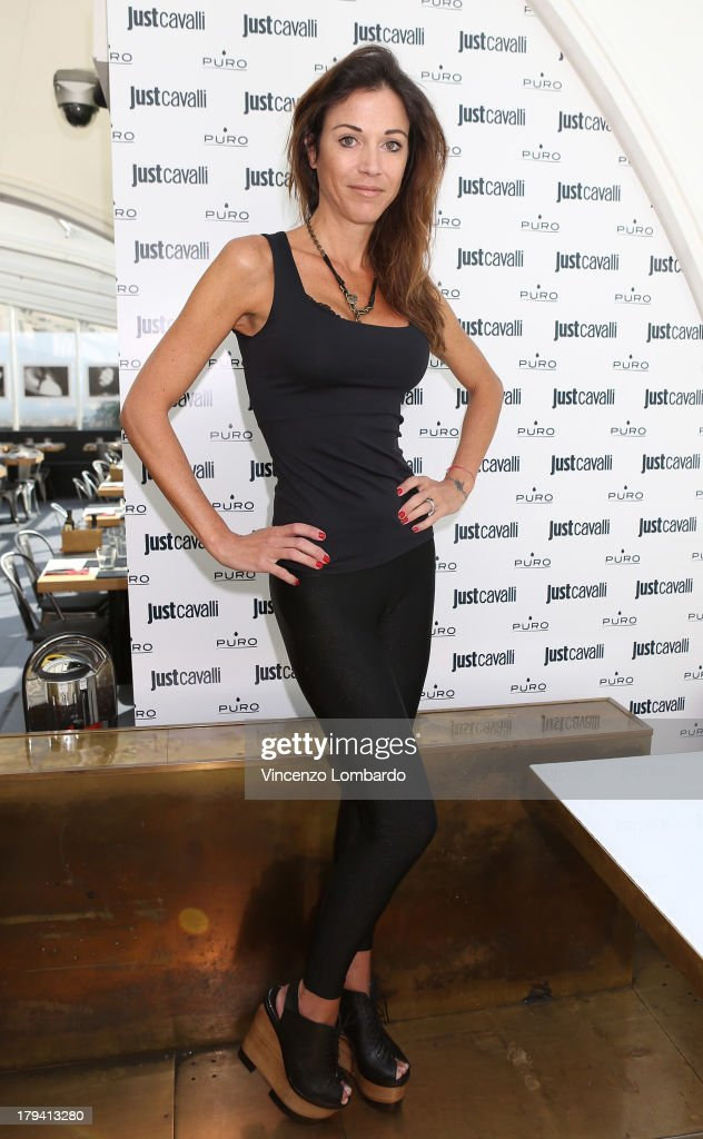 Federica Torti attend the Puro and Just Cavalli event to unveil the new smartphone covers collection on September 3, 2013 in Milan, Italy.