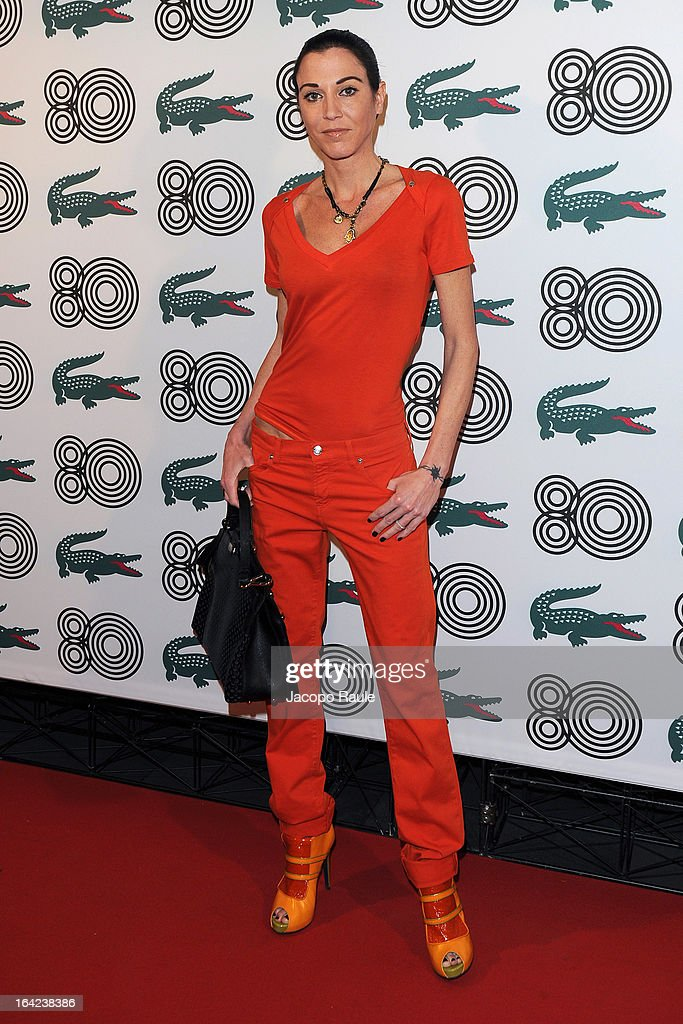 Federica Torti attends Lacoste 80th Anniversary cocktail party at La Rinascente on March 21, 2013 in Milan, Italy.