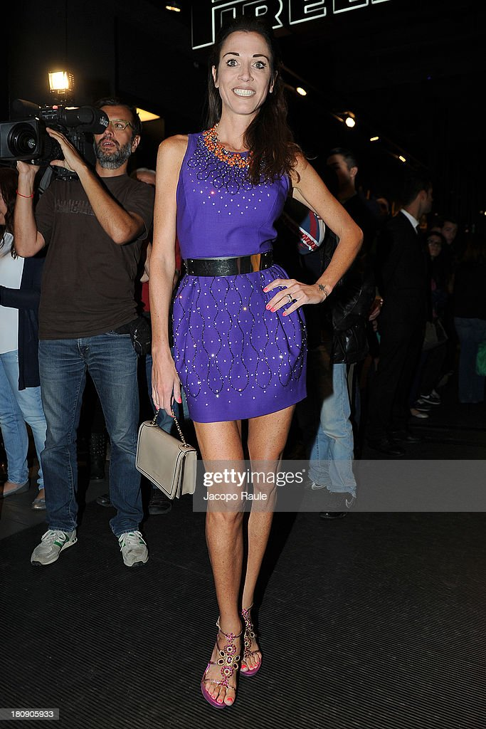 Federica Torti is seen at Pirelli PZero Store during The Milan Vogue Fashion Night Out on September 17, 2013 in Milan, Italy.