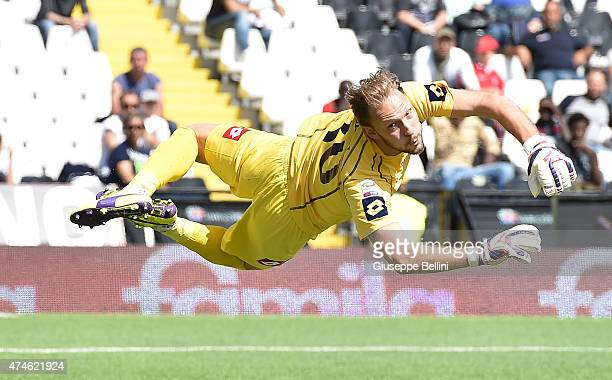 Federico Agliardi of Cesena in action during the Serie A match between AC Cesena and Cagliari Calcio at Dino Manuzzi Stadium on May 24 2015 in Cesena...