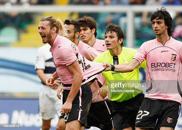 Federico Balzaretti of Palermo during the Serie A match Palermo and Lazio at Stadio Renzo Barbera on October 31 2010 in Palermo Italy