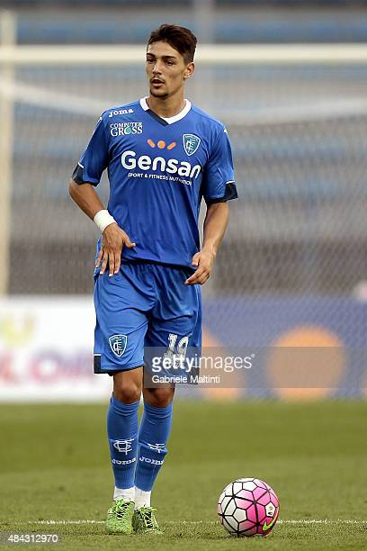 Federico Barba of Empoli FC in action during the TIM Cup match between Empoli FC and Vicenza Calcio at Stadio Carlo Castellani on August 15 2015 in...
