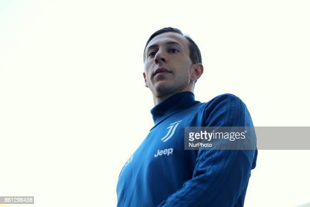 Federico Bernardeschi before the Serie A football match between Juventus FC and SS Lazio at Olympic Allianz Stadium on 14 October 2017 in Turin Italy