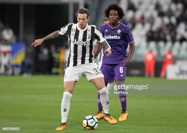 Federico Bernardeschi during Serie A match between Juventus v Fiorentina in Turin on September 20 2017