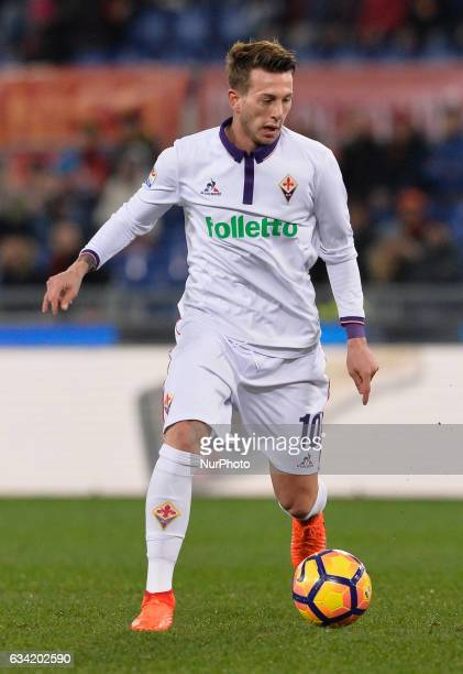 Federico Bernardeschi during the Italian Serie A football match between AS Roma and AC Fiorentina at the Olympic Stadium in Rome on february 07 2017