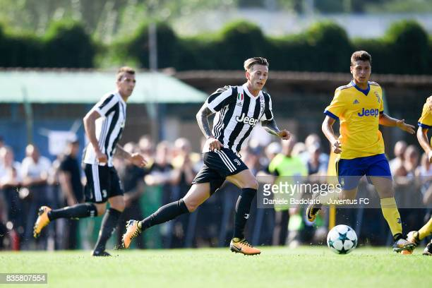 Federico Bernardeschi during the preseason friendly match between Juventus A and Juventus B on August 17 2017 in Villar Perosa Italy