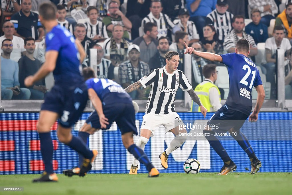 Federico Bernardeschi during the Serie A match between Juventus and SS Lazio on October 14, 2017 in Turin, Italy.