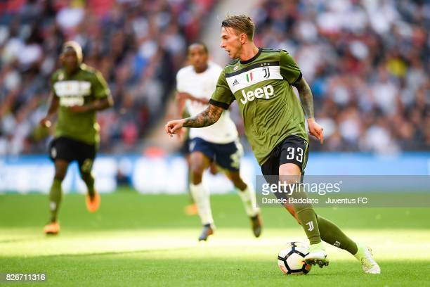 Federico Bernardeschi during the Tottenham Hotspur v Juventus PreSeason Friendly at Wembley Stadium on August 5 2017 in London England