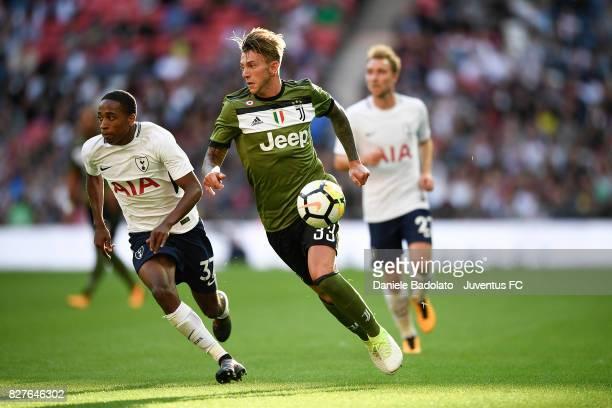 Federico Bernardeschi during the Tottenham Hotspur v Juventus PreSeason Friendly match at Wembley Stadium on August 5 2017 in London England