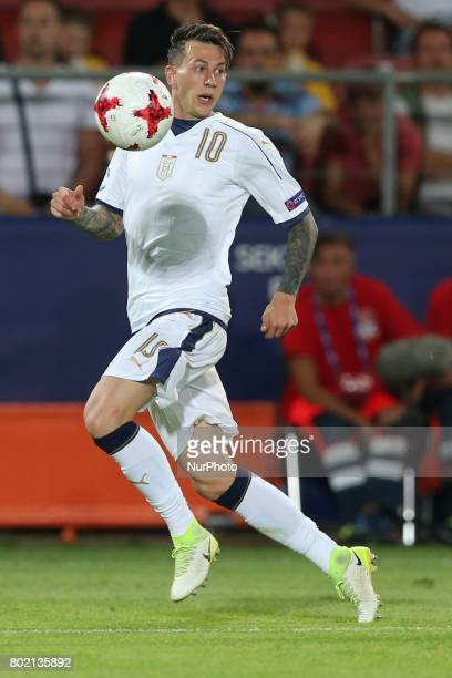 Federico Bernardeschi during the UEFA European Under21 Championship Semi Final match between Spain and Italy at Krakow Stadium on June 27 2017 in...