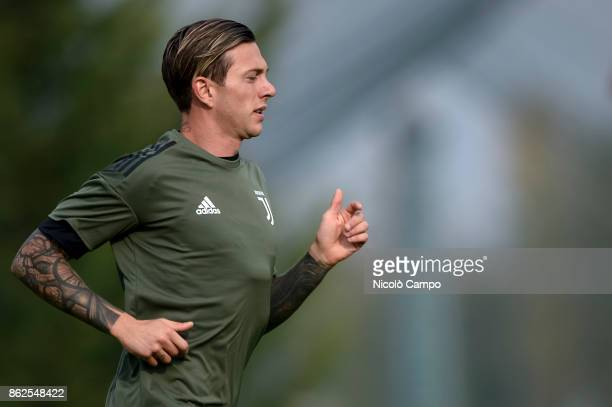 CENTER VINOVO TURIN ITALY Federico Bernardeschi in action during Juventus FC training on the eve of the UEFA Champions League football match between...