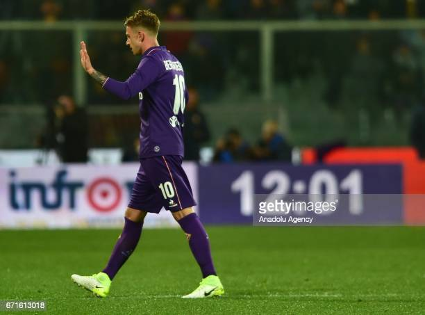 Federico Bernardeschi of ACF Fiorentina during the Serie A match between ACF Fiorentina v FC Internazionale at Stadio Artemio Franchi in Florence...